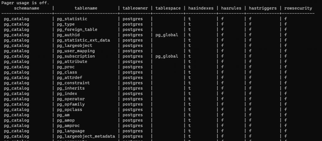 querying postgres database using client in docker